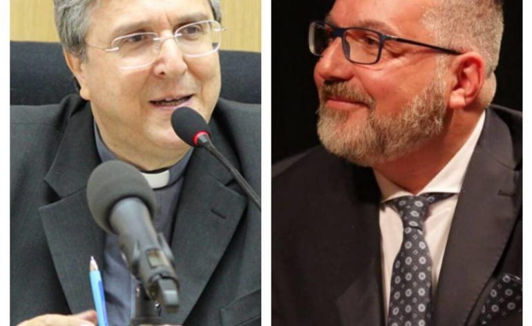 Mons.Savino con Roberto Fittipaldi